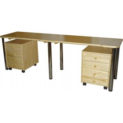 Stůl s kovovými nohy