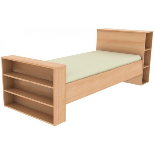 jednolůžková postel s poličkami Josef