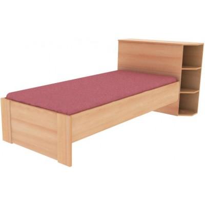 jednolůžková postel s odkládací plochou Luboš