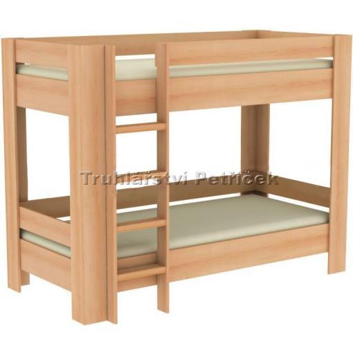 patrová postel z lamina