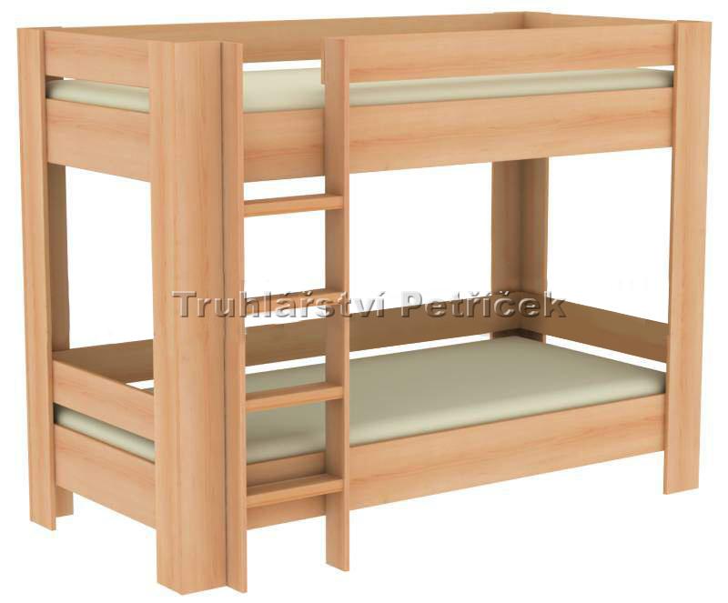 patrová postel z masivu
