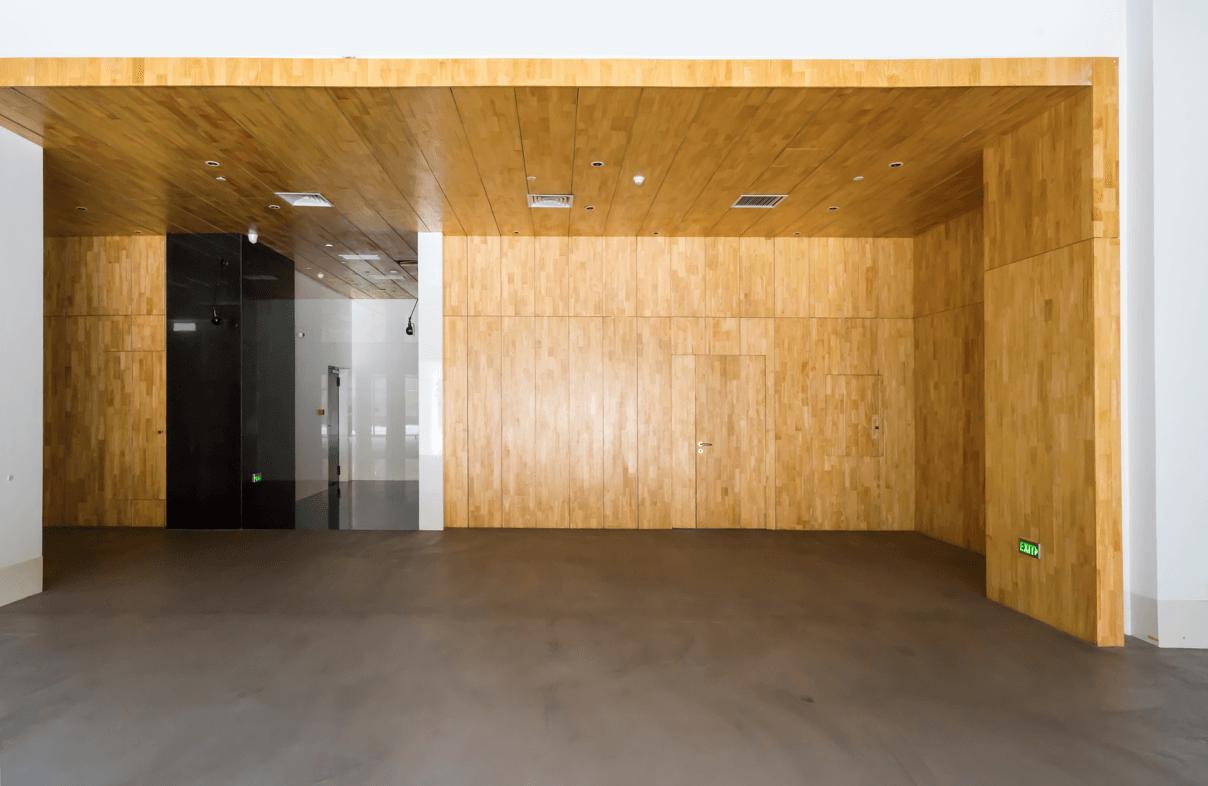 dveře s obložením ze dřeva