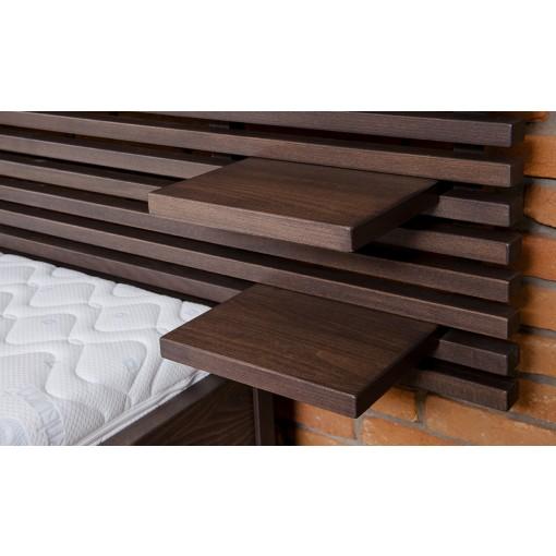 Manželská postel s poličkami lunna