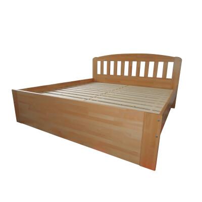 Vysoká manželská postel buk
