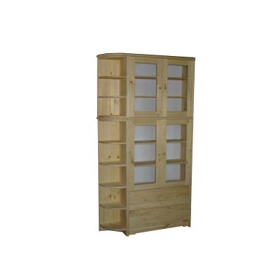 Dřevěná knihovna z masivu borovice 131