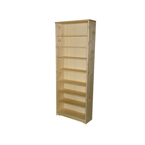 Dřevěná knihovna masiv smrk 96