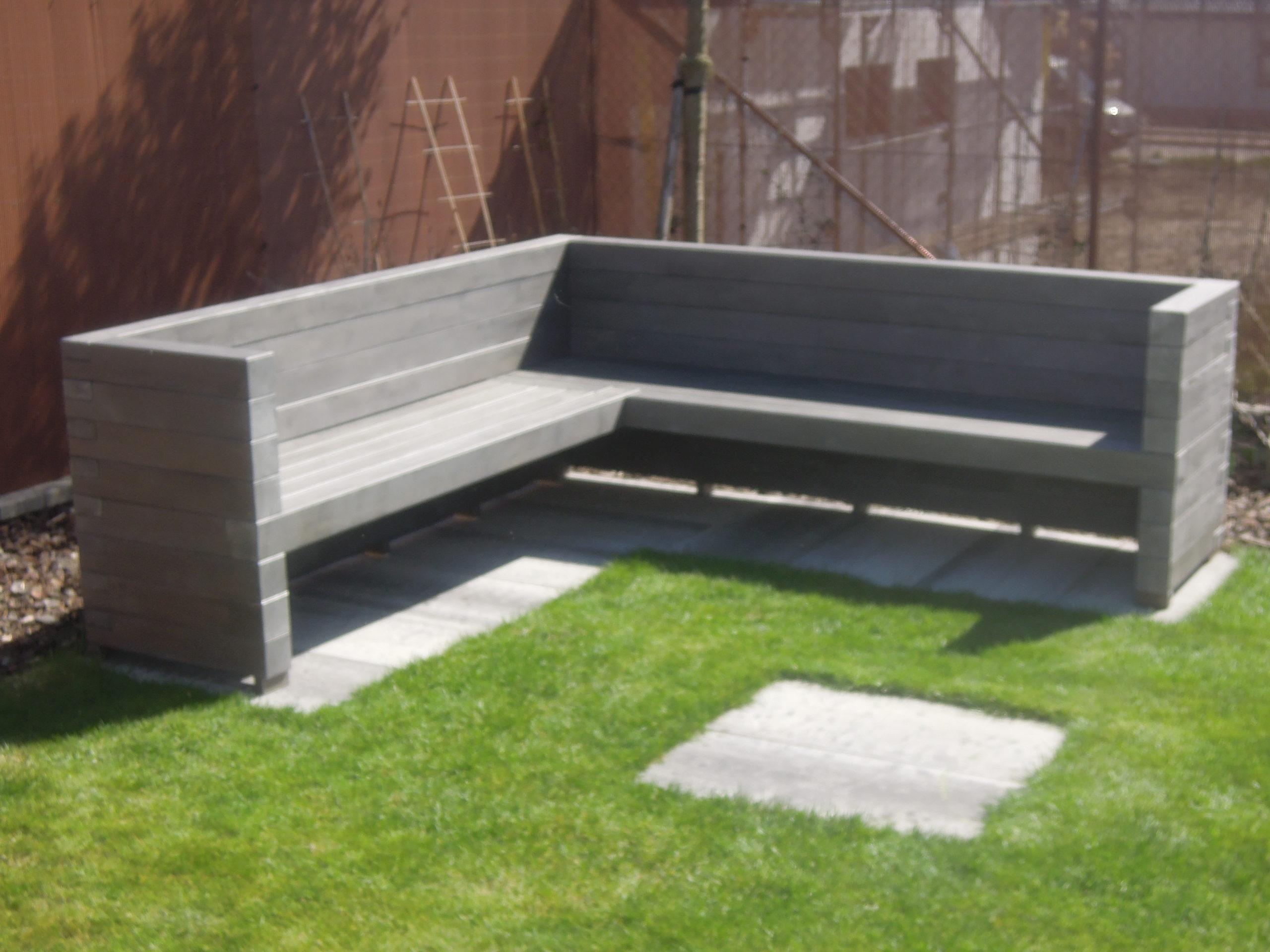Zahradní lavice KVH hranol 100 x 100 mm